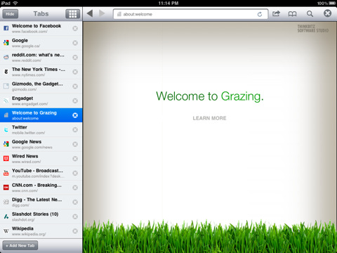 Grazing-iPad-Web-Browsers