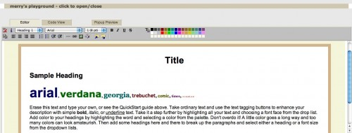 screen capture 8 e1301982644520 Top 10 Online HTML Editors That Are Simple And Free To Use