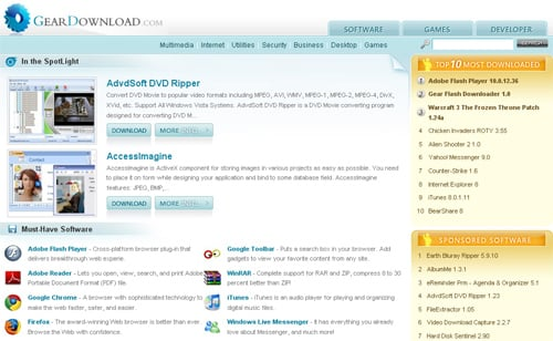 geardownload Top 10 Best Free Software Download Sites