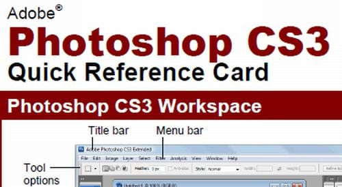 photocheat3 15 Photoshop Cheat Sheets That Will Make Your Task Easier