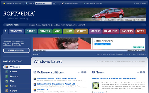 softpedia Top 10 Best Free Software Download Sites