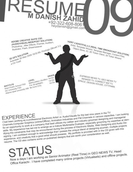 174 e1269806755855 Best Creative Resumes Examples and Ideas of All Time | Top 100 Resume Samples