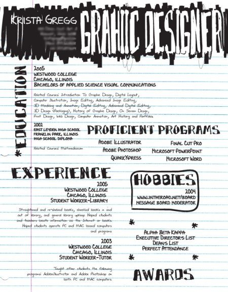 125 incredibly creative resumes for awesome inspiration