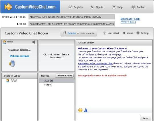 best free chat room - custom video chat