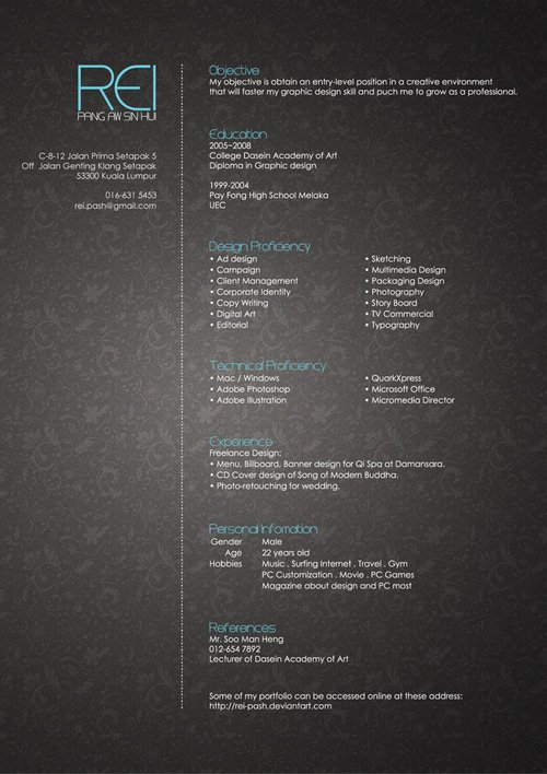 Creative Resume by Rei-pash