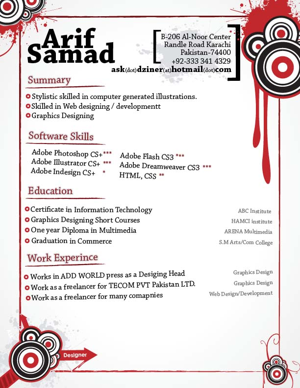 Creative Resume by Askdzigner