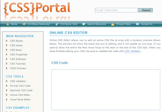 Online CSS Editors