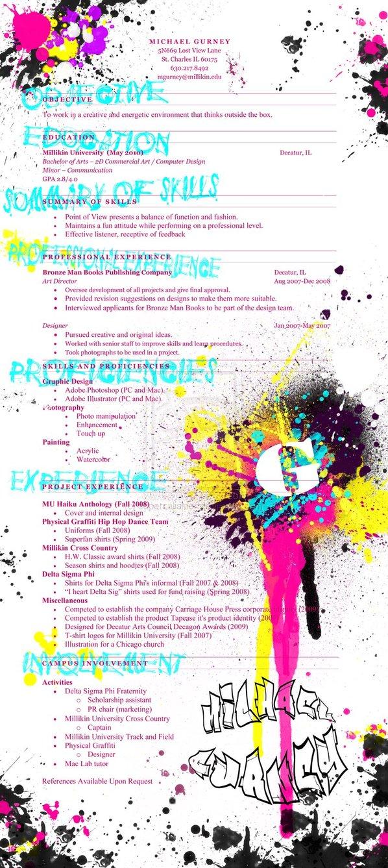 Creative Resume by Supercaliskier