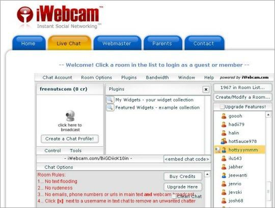 best free chat room - iwebcam