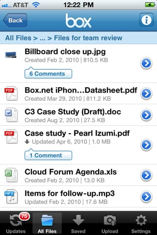 Screenshot iPhone 1