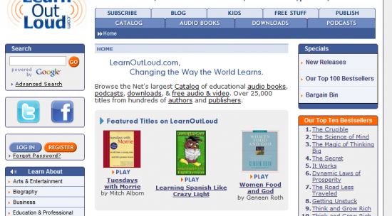 Top 7 Sites For Free Audio Books