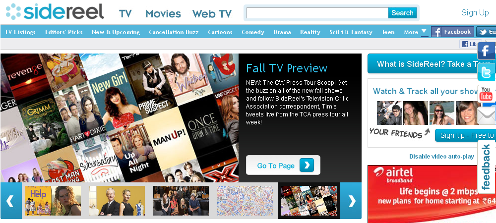 Watch free tv shows online with these seven most popular Online series sites