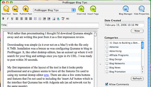 qumana 20+ Essential Tools and Applications For Bloggers