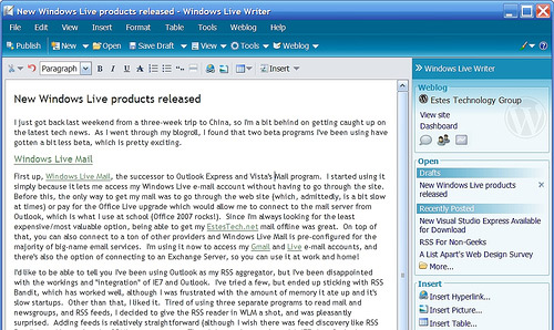 windows live writer 20+ Essential Tools and Applications For Bloggers
