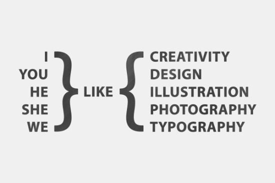 I Like Typography Design Wallpaper