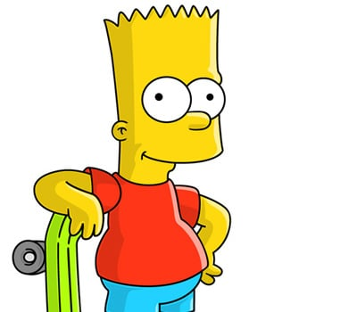 BartSimpson 40+ Excellent Adobe Illustrator Cartoon Tutorials