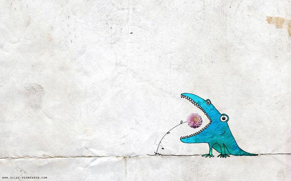Flower Creature by SilkyLauper 60 Beautiful Minimalist Desktop Wallpapers