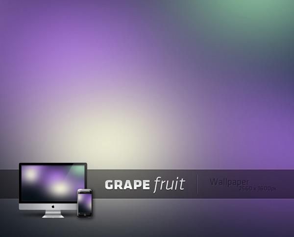Grapefruit by Jeremy Sallee 60 Beautiful Minimalist Desktop Wallpapers