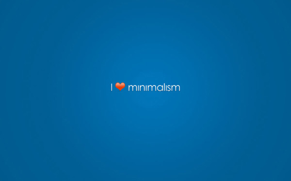 I Love Minimalism Wallpaper by Chris 60 Beautiful Minimalist Desktop Wallpapers