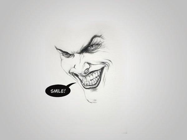 Minimal Joker by Andre Garrido 60 Beautiful Minimalist Desktop Wallpapers
