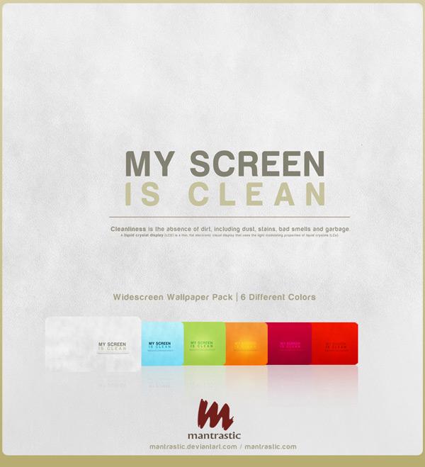 My Screen is Clean by Matan B 60 Beautiful Minimalist Desktop Wallpapers