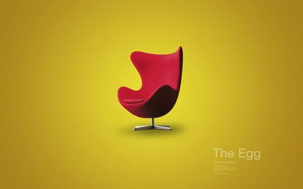 The Egg Chair by David Vineis 60 Beautiful Minimalist Desktop Wallpapers