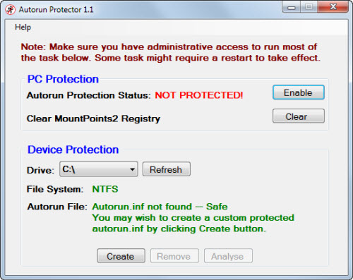 autorun protector 10 Tools to Protect Computer from Infected USB Flash Drives