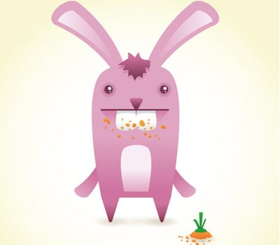 bunny 40+ Excellent Adobe Illustrator Cartoon Tutorials