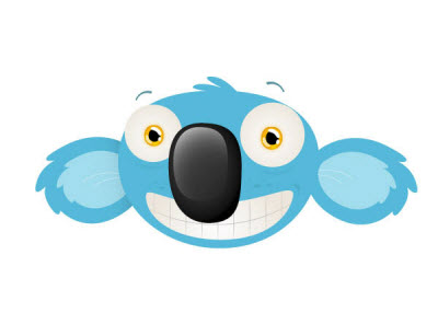 cheeky koala mascot head 35 (More) Adobe Illustrator Cartoon Character Tutorials