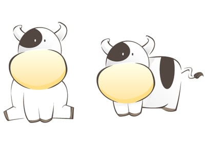 cow 80 Excellent Adobe Illustrator Cartoon Tutorials