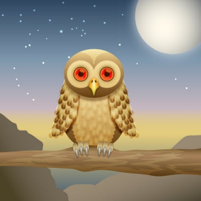 curious owl 35 (More) Adobe Illustrator Cartoon Character Tutorials