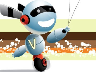 cute robot 80 Excellent Adobe Illustrator Cartoon Tutorials