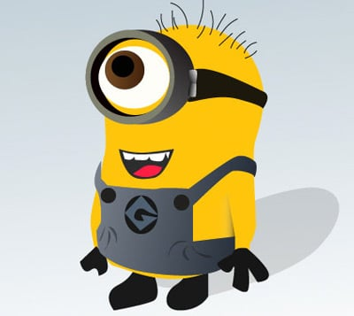 despicable me minion 35 (More) Adobe Illustrator Cartoon Character Tutorials