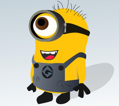 despicable me minion 80 Excellent Adobe Illustrator Cartoon Tutorials