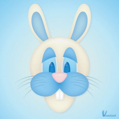 face of a bunny goofy 35 (More) Adobe Illustrator Cartoon Character Tutorials