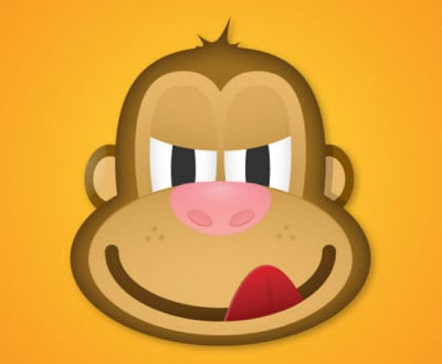 face of a greedy monkey 35 (More) Adobe Illustrator Cartoon Character Tutorials