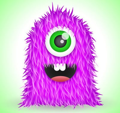 furry vector monster 80 Excellent Adobe Illustrator Cartoon Tutorials