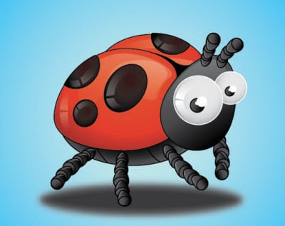 lady bird insects 80 Excellent Adobe Illustrator Cartoon Tutorials