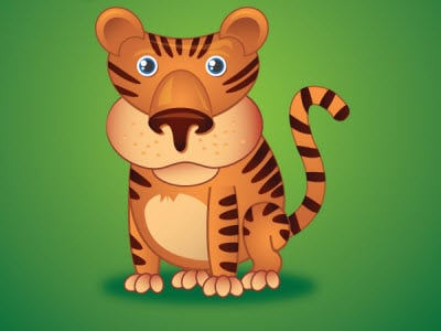 little tiger 80 Excellent Adobe Illustrator Cartoon Tutorials