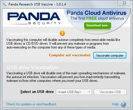 panda usb vaccine 10 Tools to Protect Computer from Infected USB Flash Drives