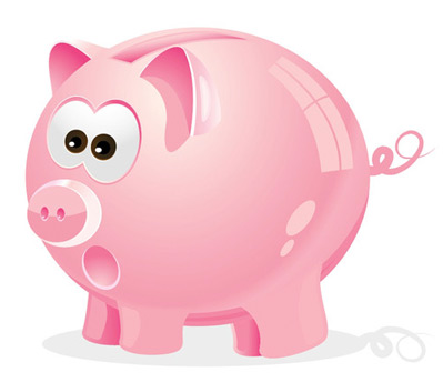 piggy bank 35 (More) Adobe Illustrator Cartoon Character Tutorials