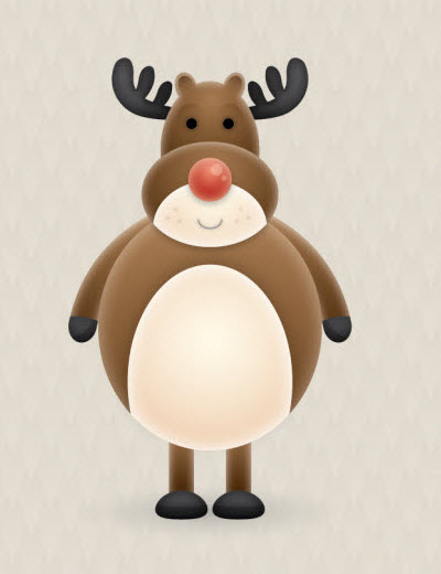 reindeer character 35 (More) Adobe Illustrator Cartoon Character Tutorials