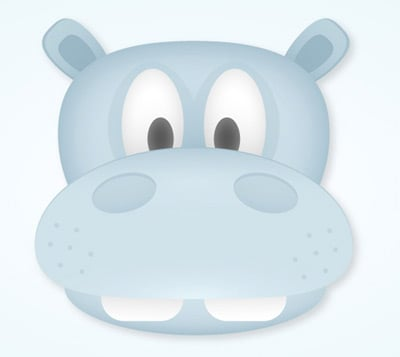 simple hippo 35 (More) Adobe Illustrator Cartoon Character Tutorials