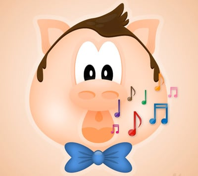 singing pig 80 Excellent Adobe Illustrator Cartoon Tutorials