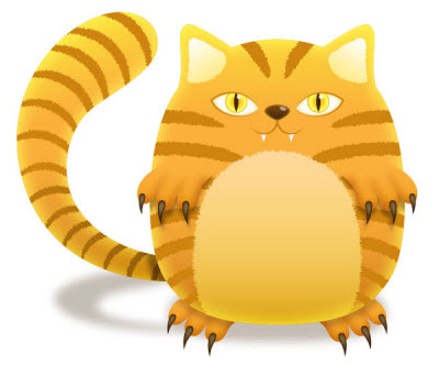 stripped cat 35 (More) Adobe Illustrator Cartoon Character Tutorials