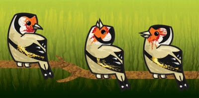 textured european goldfinch 35 (More) Adobe Illustrator Cartoon Character Tutorials