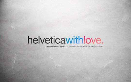 Wallpaper: allonlim - Helvetica with Love