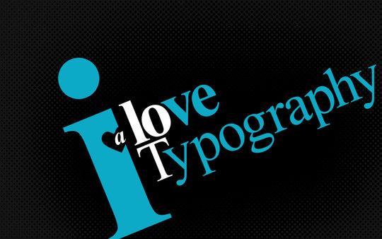 Wallpaper: Mo Lara - I love Typography