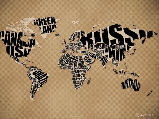 Wallpaper: vladstudio - Typographic World Map