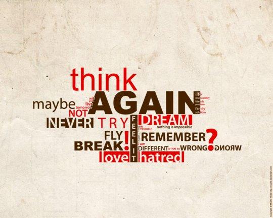 Wallpaper: mushir - Think Again